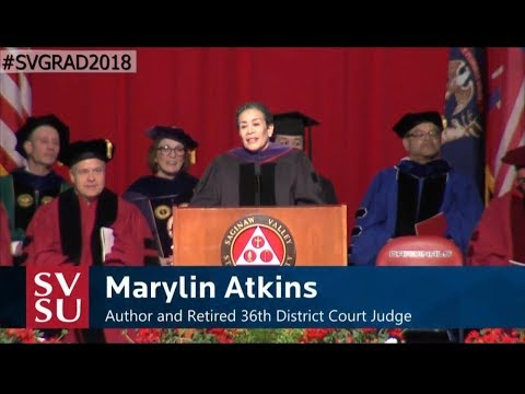 Atkins diet - Commencement Address by Marylin Atkins at Saginaw Valley State University May 2018