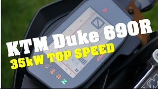 2. 2016 KTM Duke 690 R 35kW top speed