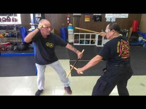 Tirsia - Soundbites from a recent Pekiti Tirsia Kali seminar. Here some basic stick drills. Supreme Grand Tuhon Leo Gaje with Bobby