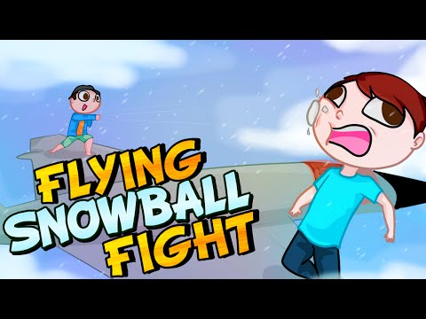 FLYING SNOWBALL FIGHT! - GTA 5 Online Funny Moments (видео)
