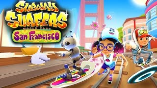 Join the Subway Surfers World Tour in San Francisco! Download for free on Android, iOS, Windows 10 and Kindle Fire right here: http://bit.ly/SubSurfFBSubway Surfers World Tour - San Francisco:★ The Subway Surfers World Tour continues in San Francisco★ Surf across the Golden Gate Bridge and explore the lively city bay★ Stay on top of your game with the new Pixel Outfit for Jenny★ Take the Groovy board for a colorful ride through the Subway★ Find cute sea lions on the tracks to unlock great prizesDownload for FREE on:Android:http://bit.ly/SubSurf_GooglePlayiOS:http://bit.ly/SubSurf_AppStoreWindows 10:http://bit.ly/SubSurf_WPstoreKindle Fire:http://bit.ly/SubSurf_Amazon