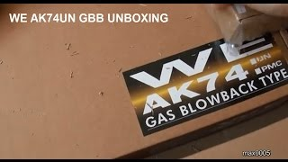 Unboxing my new WE AKS74UN GBB + short Overview.