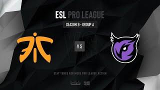 Fnatic vs Windigo - ESL Pro League Season 9 EU - map2 - de_mirage [TheCraggy & Anishared]