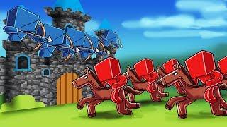 Minecraft | 500 Red vs 500 Blue! (Red vs Blue Castle Siege Massive Mob Battles)