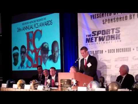 Taylor Heinicke speaks at Walter Payton Award Ceremony video.