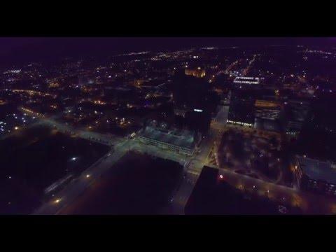 Downtown Greensboro North Carolina Drone Footage
