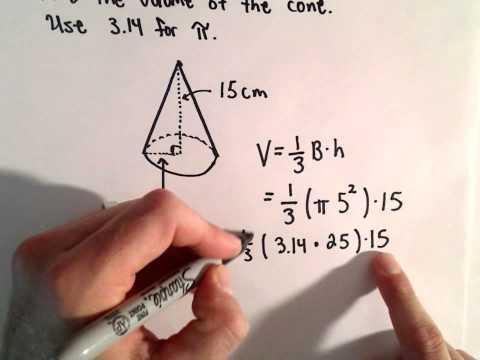 Volumen eines Kegels berechnen