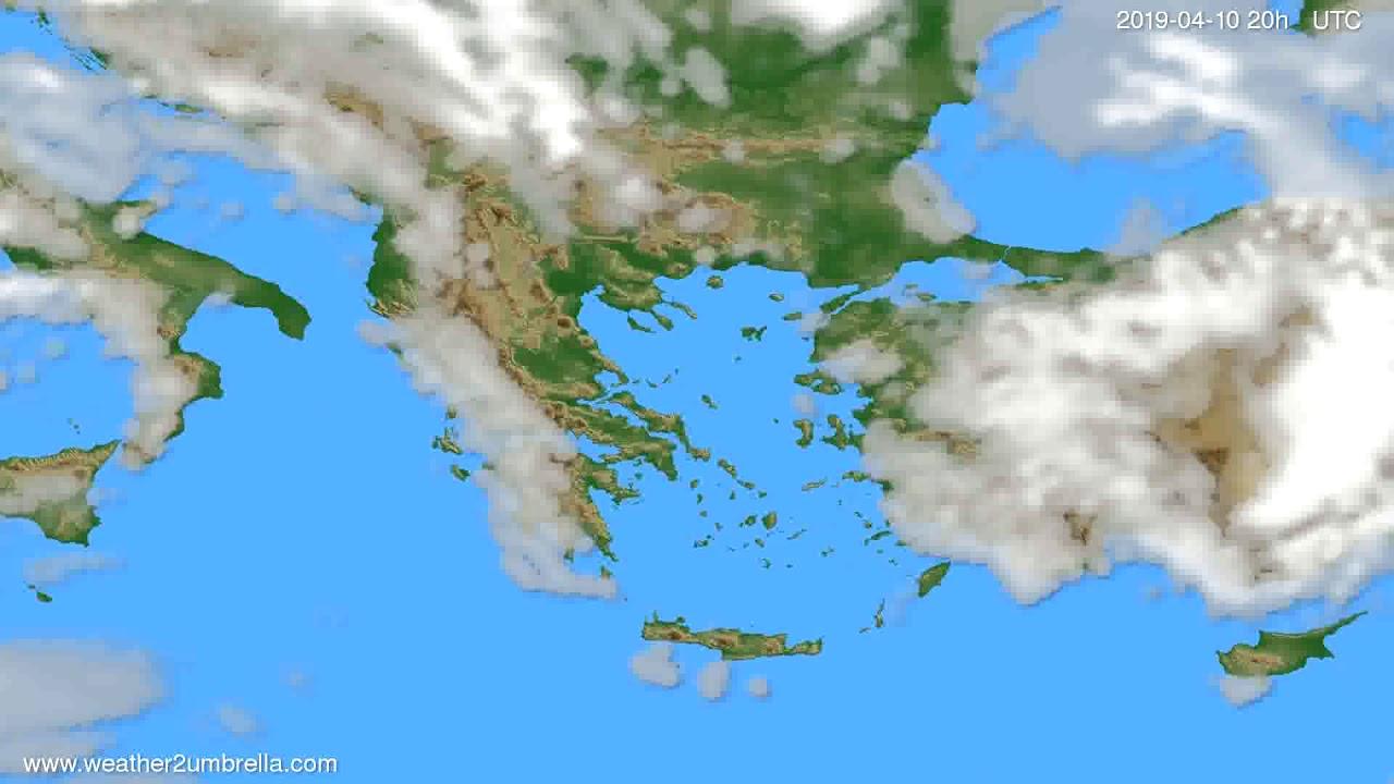 Cloud forecast Greece // modelrun: 00h UTC 2019-04-09