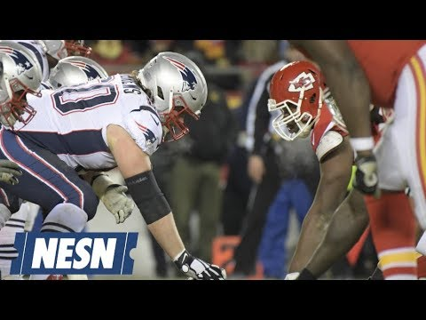 Video: Offensive Line Stars For Patriots In AFC Championship Win vs. Chiefs
