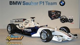 Live for Speed 0.6g: driving the BMW Sauber F1.06 on Westhill track using a Thrustmaster T300. Incredible force feedback. Almost a perfect combination.