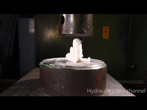 "Hydraulic Press Channel back with ""Crushing 3-D Printed Stuff""."