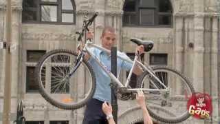Bike Stuck In Pole Prank