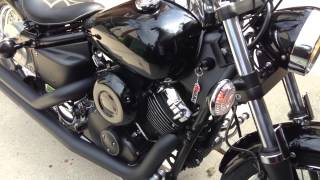 8. 2008 Yamaha V-Star 650 Cold Start (75 Degrees)