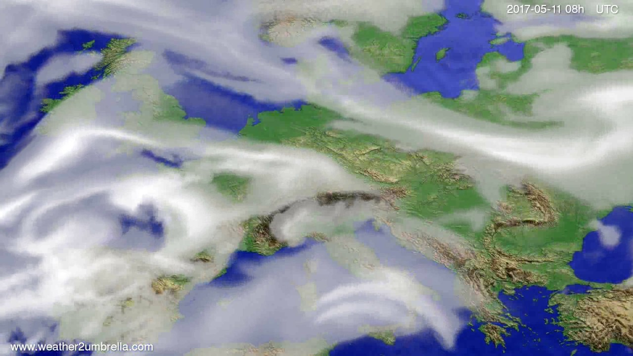 Cloud forecast Europe 2017-05-08