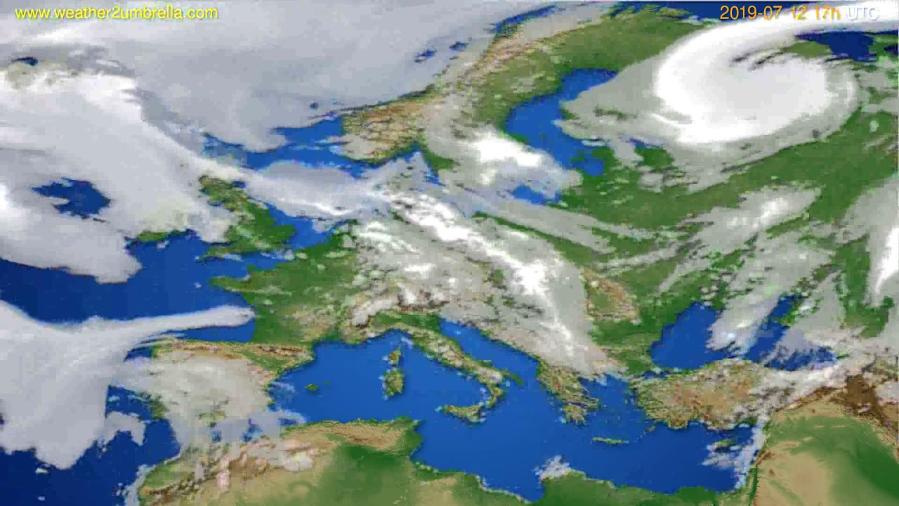 Cloud forecast Europe // modelrun: 00h UTC 2019-07-11