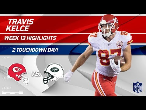 Video: Travis Kelce's Double TD Day vs. NY! | Chiefs vs. Jets | Wk 13 Player Highlights