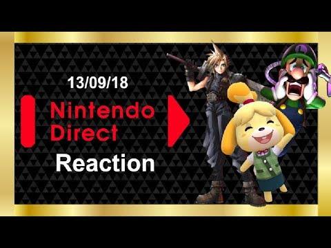 Nintendo Direct Reaction 13/09/18 (видео)
