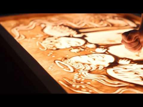 Sand artist Tanya Gorina
