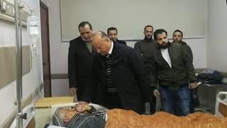 محافظ القاهرة يزور مصاب حادث الهجانة في المستشفى