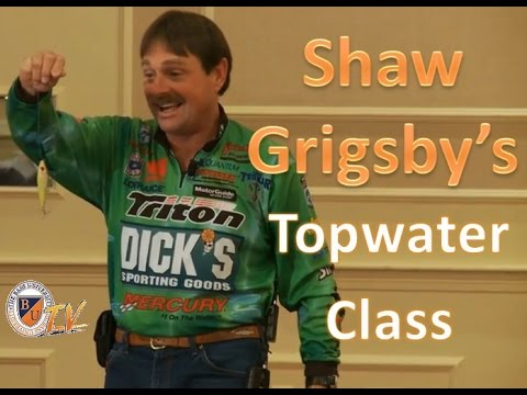 Topwater Bass Fishing Tactics with SHAW GRIGSBY