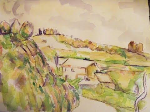Painting  simple watercolors like Cezanne