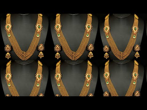 Latest light weight Gold Set Design| jewellery set price and weight |