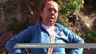 Lluvias podrían ablandar tierra y más derrumbe en Lomas del Rubí
