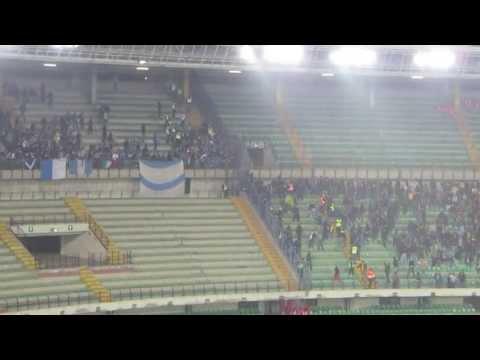 Scontri ultras Hellas vs ultras Brescia