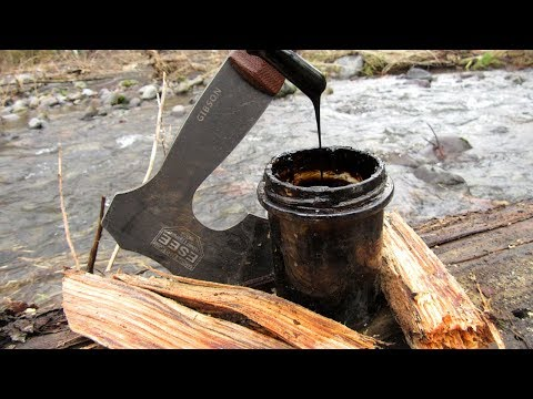 Making Tar from Fatwood - Natural Waterproofing