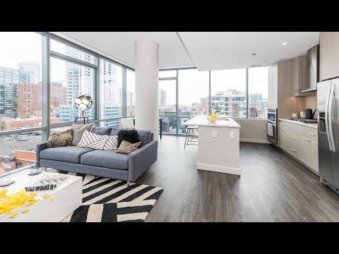 A corner 2-bedroom, 2-bath model at River North's new SixForty1112