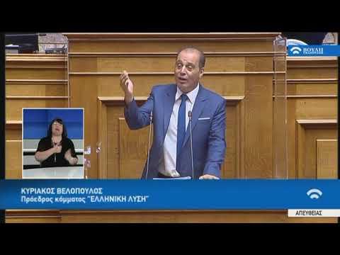 Κ.Βελόπουλος (Πρόεδρος ΕΛΛΗΝΙΚΗ ΛΥΣΗ) (Νομοσχέδιο Οικονομικών) (29/07/2020)