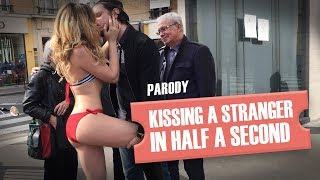Video Embrasser une inconnue en une demi-seconde (parodie) / Kissing a girl prank parody MP3, 3GP, MP4, WEBM, AVI, FLV Juni 2017