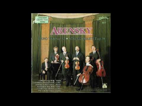 Anton Stepanovitch Arensky (1861-1906) Quartet In A Minor, Op  35 For Violin, Viola & Two Cellos