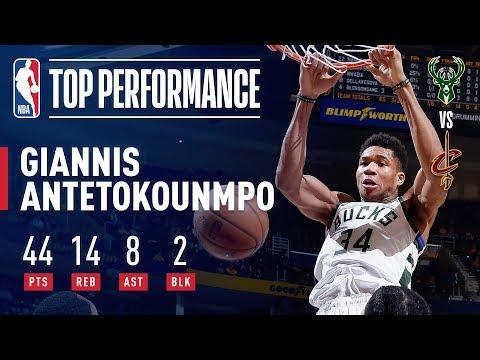 Video: Giannis Antetokounmpo Puts Up 44/14/8 In Bucks' Win Over Cavs | December 14, 2018