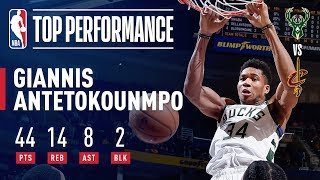 Giannis Antetokounmpo Puts Up 44/14/8 In Bucks' Win Over Cavs | December 14, 2018 by NBA