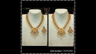 Latest South Indian Pearl Necklace Designs