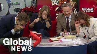 Holiday artichoke dip goes terribly wrong on-air
