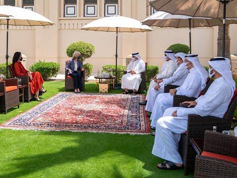 سمو ولي العهد رئيس مجلس الوزراء يلتقي سعادة السيدة مارغريت ناردي القائم بأعمال سفارة الولايات المتحدة الأمريكية لدى مملكة البحرين