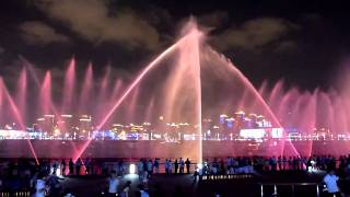 The exquisite musical fountain at the ShangHai 上海 World Expo