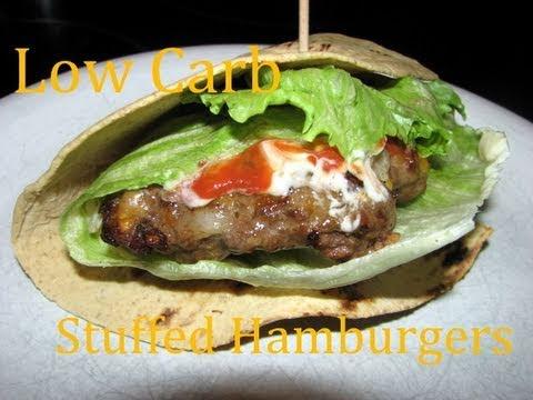 Atkins Diet Recipes: Low Carb Stuffed Hamburgers (IF)