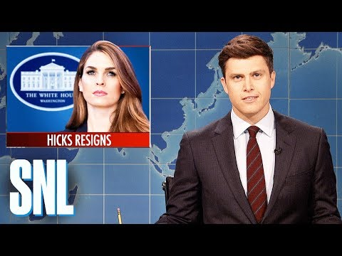 Weekend Update on Hope Hicks's Resignation - SNL