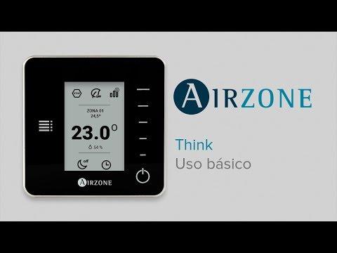 Termostato inteligente Airzone Think: uso básico