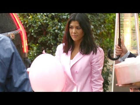 Kourtney Kardashian And Friends Celebrate Khloe's Baby Shower In Bel Air