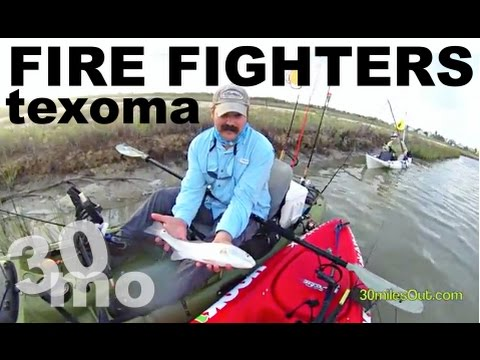 30milesOut~ TEXHOMA FIRE FIGHTERS rockport texas kayak fishing
