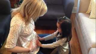 A Little Girl Finds Out She's Going To Be A Big Sister!