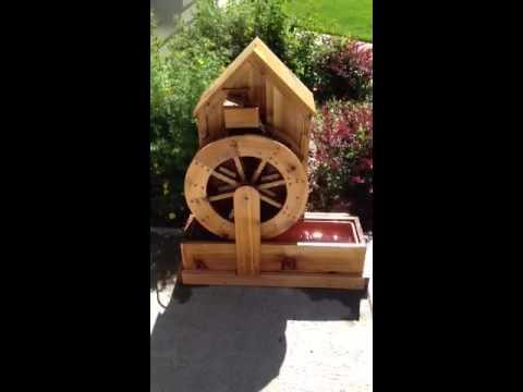 Water Wheel Fountain Plans Water Wheel Fountain