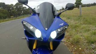 9. Custom Blue 2007 Yamaha YZF-R1
