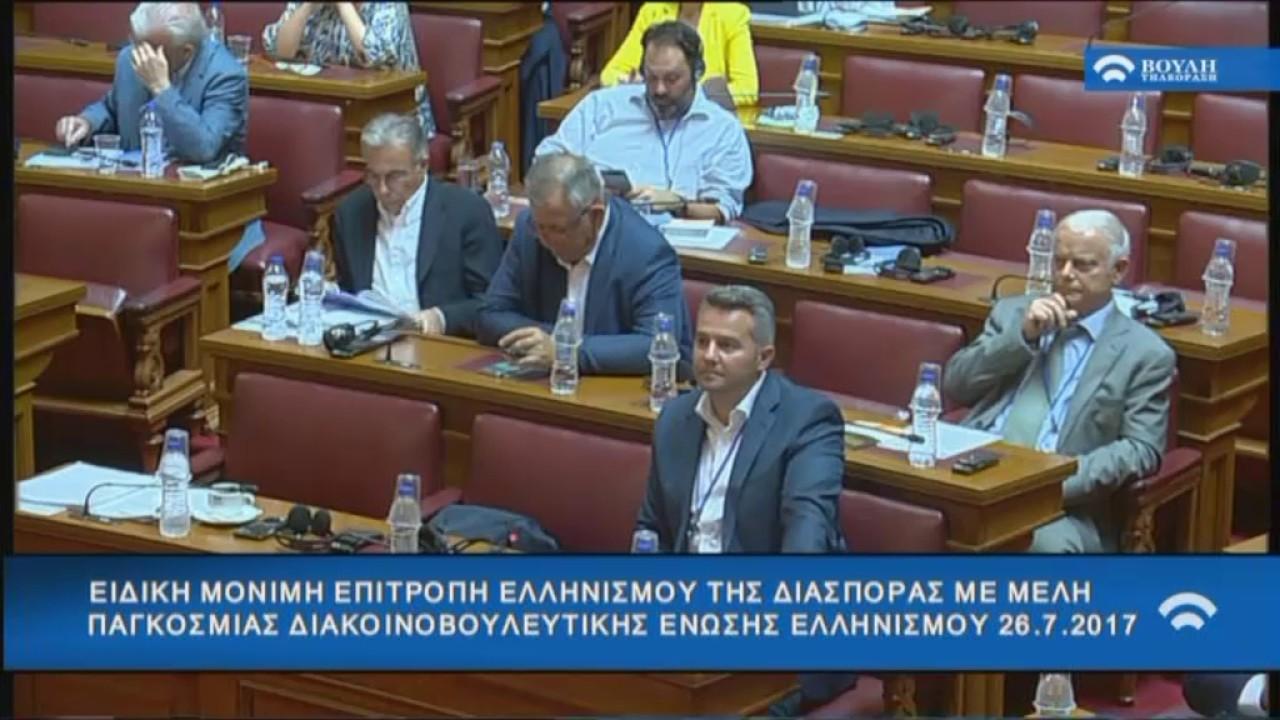 Συνάντηση της  Επιτροπής Ελληνισμού της Διασποράς με Αντιπροσωπεία  της Πα.Δ.Ε.Ε.(26/07/2017)