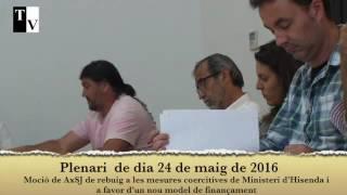 Moció AxSJ de rebuig a les mesures coercitives del Ministeri d'Hisenda...