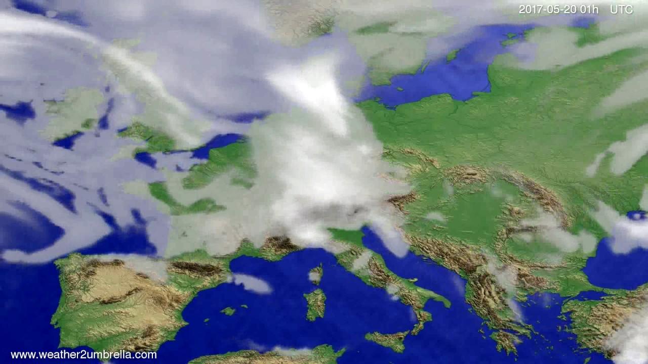 Cloud forecast Europe 2017-05-17